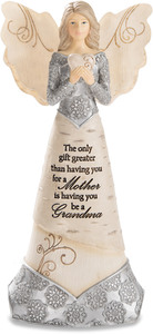 "Grandma is a Gift by Elements - 7.5"" Angel Holding Heart"