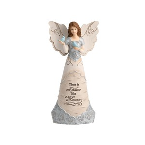 "Like Home by Elements - 7.5"" Angel Holding a Bird"