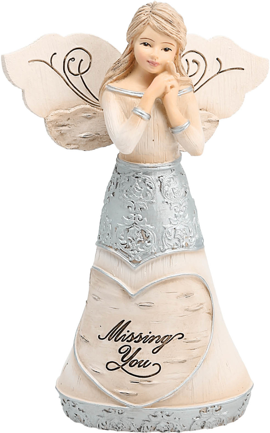 "Missing You by Elements - Missing You - 5.5"" Angel Holding a Butterfly"