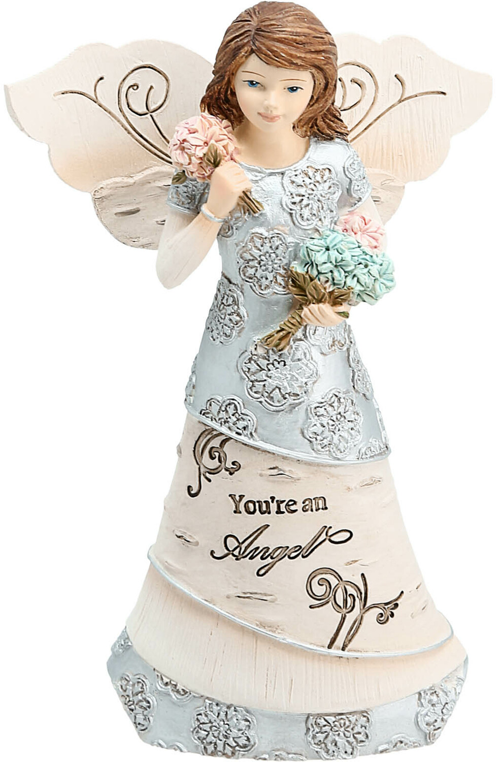 "You're An Angel by Elements - You're An Angel - 5.5"" Angel Holding Flowers"