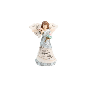 "You're An Angel by Elements - 5.5"" Angel Holding Flowers"