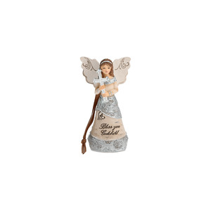 "Godchild by Elements - 4.5"" Angel Ornament"