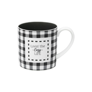 Cozy Life by Farmhouse Family - 17 oz. Pierced Porcelain Mug
