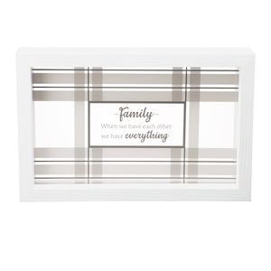 "Family by Farmhouse Family - 5.5"" Framed Glass Plaque"
