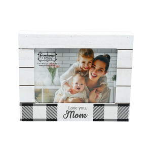 "Mom by Farmhouse Family - 9"" x 7.25"" Frame (Holds 7"" x 5"" Photo)"