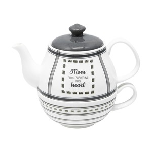 Mom by Farmhouse Family - Tea for One Set (17 oz Teapot & 8.5 oz Cup)