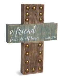"Friends by Emmaline - 8"" MDF Cross"