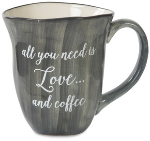 Love and Coffee by Emmaline - 16 oz Ceramic Mug