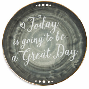 "Great Day by Emmaline - 9"" Ceramic Plate"
