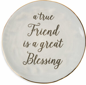 "True Friend by Emmaline - 7"" Ceramic Plate"