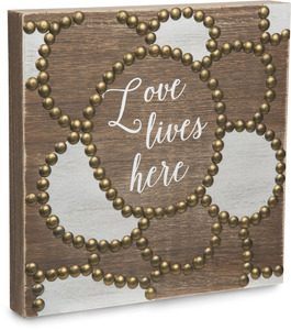 "Love by Emmaline - 8""  Plaque"