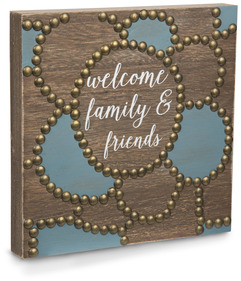 "Welcome by Emmaline - 8""  Plaque"