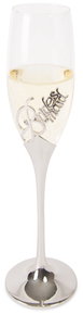 Bridesmaid by Glorious Occasions - 8 oz. Champagne Flute with Zinc Stem