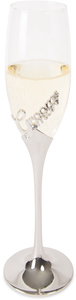 Groomsman by Glorious Occasions - 8 oz. Champagne Flute with Zinc Stem