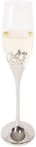 Best Man by Glorious Occasions - 8 oz. Champagne Flute with Zinc Stem