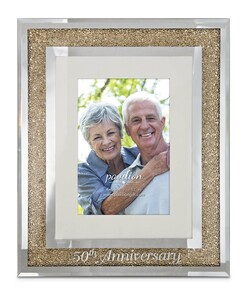 "50th Anniversary by Glorious Occasions - 9""x11"" Frame (Holds 4""x6"" Photo)"