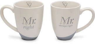 Mr. Right by Glorious Occasions - 14 oz. Cup (Set of 2)