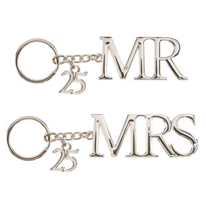 25th Anniversary by Glorious Occasions - Key Chain Set