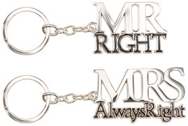 Always Right by Glorious Occasions - Key Chain Set
