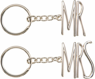Mr. and Mrs. by Glorious Occasions - Key Chain Set