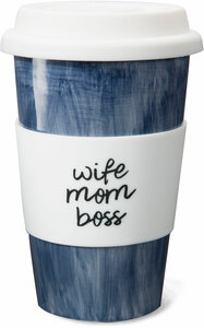 Wife Mom Boss by Mom Life - 11 oz Ceramic Travel Mug