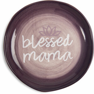 "Blessed Mama by Mom Life - 4.5"" Keepsake Dish"