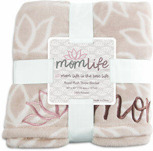 "Best Life by Mom Life - 50""x60"" Royal Plush Blanket"