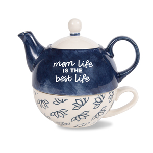 Mom Life by Mom Life - 15 oz Teapot & 8 oz Cup