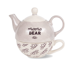 Mama Bear by Mom Life - 15 oz Teapot & 8 oz Cup