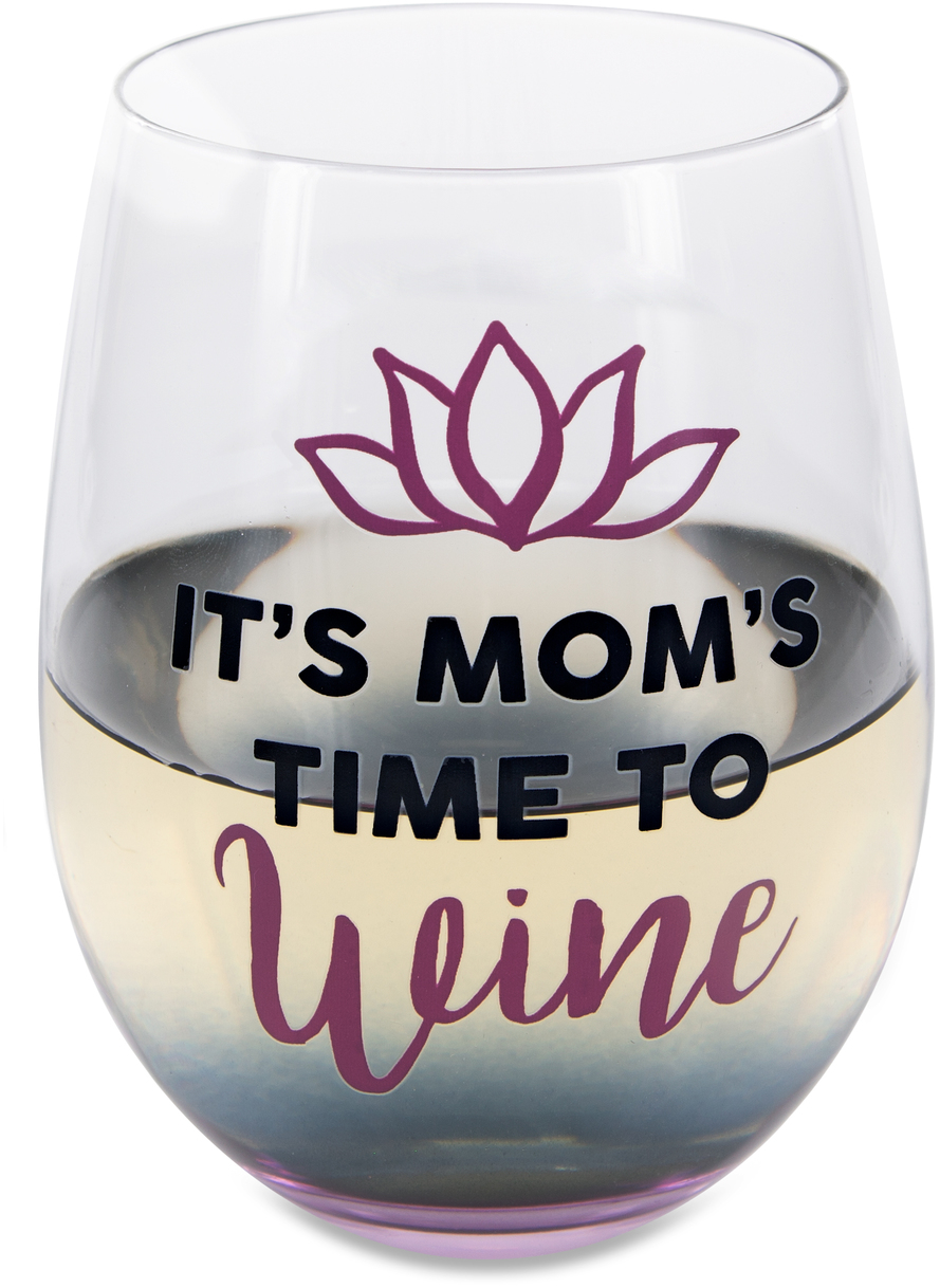Time to Wine by Mom Life - Time to Wine - 18 oz Stemless Wine Glass