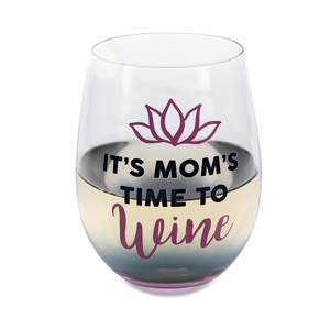 Time to Wine by Mom Life - 18 oz Stemless Wine Glass