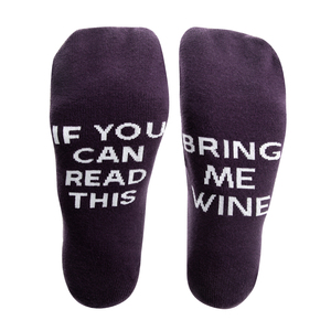 Wine by Mom Life - Ladies Cotton Blend Sock