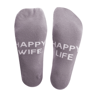 Happy by Mom Life - Ladies Cotton Blend Sock