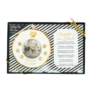 "Pawprints by Hung Up on You - 4"" Photo Frame Ornament"