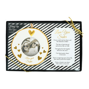 "Sister by Hung Up on You - 4"" Photo Frame Ornament"