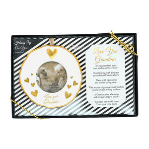 "Grandma by Hung Up on You - 4"" Photo Frame Ornament"