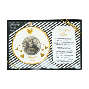 "Aunt by Hung Up on You - 4"" Photo Frame Ornament"