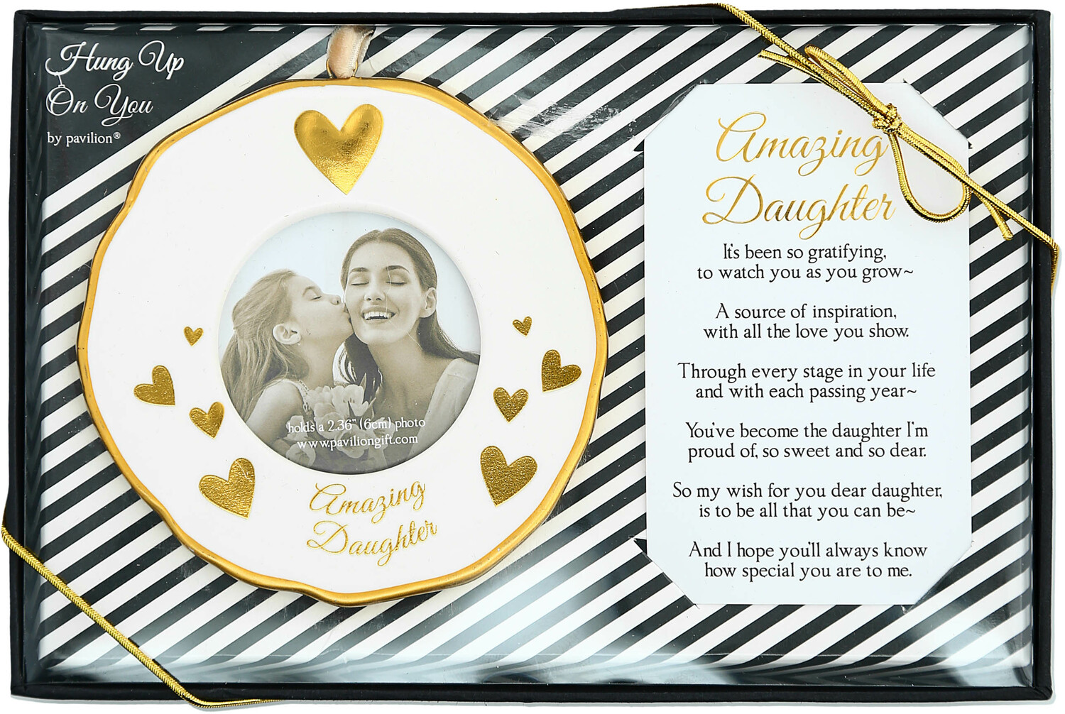 "Daughter by Hung Up on You - Daughter - 4"" Photo Frame Ornament"