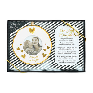 "Daughter by Hung Up on You - 4"" Photo Frame Ornament"
