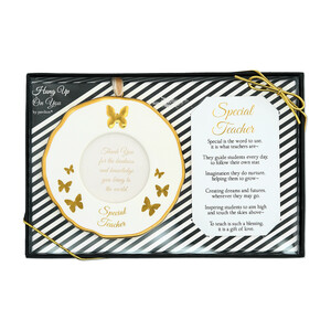 "Teacher by Hung Up on You - 4"" Photo Frame Ornament"