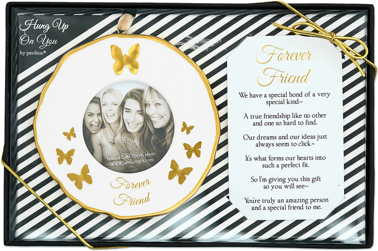 "Forever Friends by Hung Up on You - Forever Friends - 4"" Photo Frame Ornament"