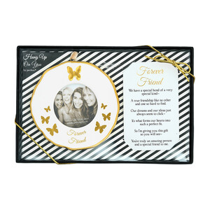 "Forever Friends by Hung Up on You - 4"" Photo Frame Ornament"