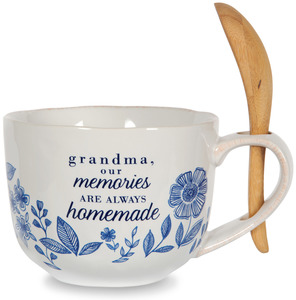 Grandma by Eat Share Love - 20 oz Soup Bowl with Bamboo Spoon