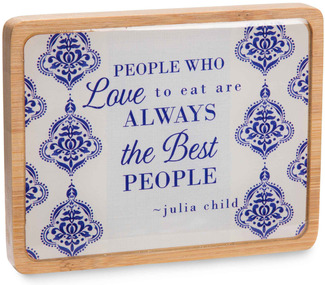 "The Best People by Eat Share Love - 3"" x 4"" Magnet Plaque with Easel"