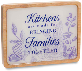 "Families by Eat Share Love - 3"" x 4"" Magnet Plaque with Easel"