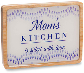 "Mom's Kitchen by Eat Share Love - 3"" x 4"" Magnet Plaque with Easel"