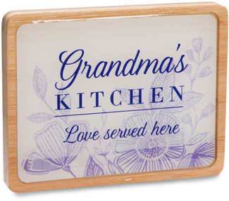 "Grandma's Kitchen by Eat Share Love - 3"" x 4"" Magnet Plaque with Easel"