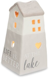 "At the Lake by Love Lives Here - 6"" Porcelain House"