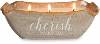 Cherish Every Day by Love Lives Here - Triple Wick 10 oz Soy Candle Scent: Tranquility
