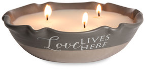 Love Lives Here by Love Lives Here - Triple Wick 9 oz Soy Wax Candle Scent: Tranquility